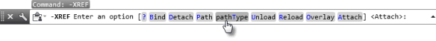 Choosing the PATHTYPE function at the command ine pathtype function