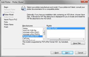 AutoCAD PDF Driver