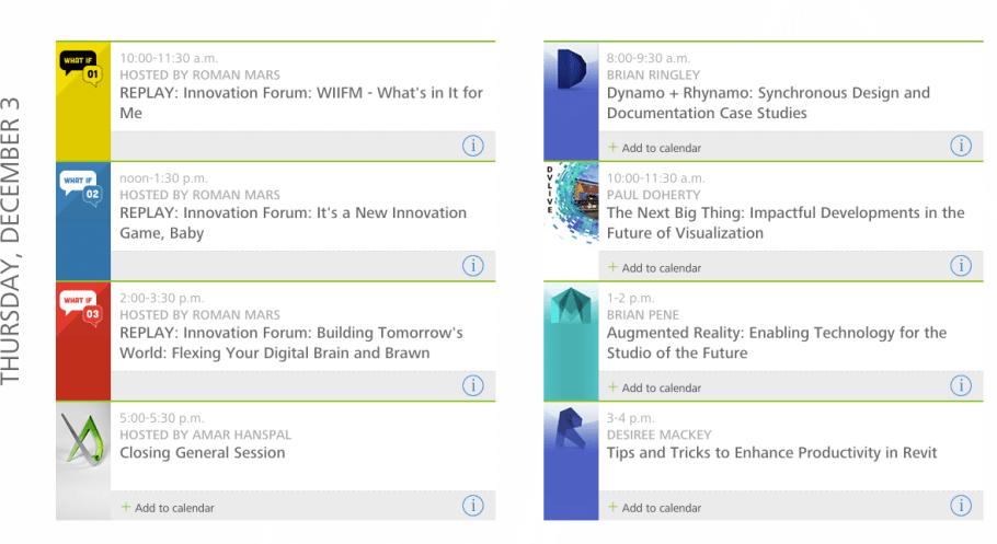 Autodesk University 2015 Thursday Live-Stream