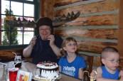 Grandpa wearing the Moose Hat