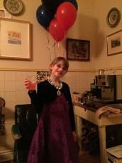 Abby with her New Year's Wine (Italian Soda)