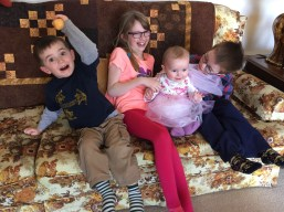 Macklan, Abby, Eva, and Aiden