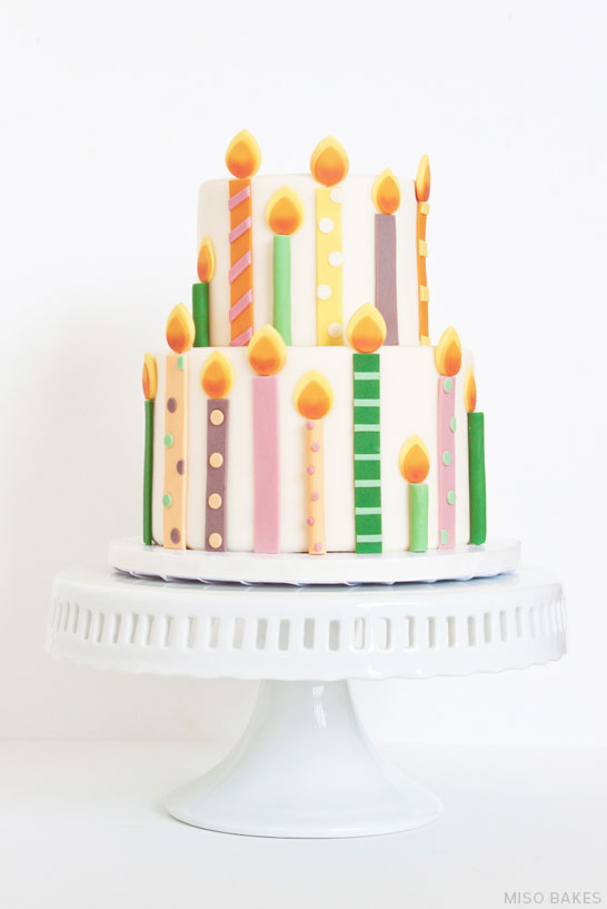 DIY Birthday Candles Cake | by Miso Bakes  |  TheCakeBlog.com