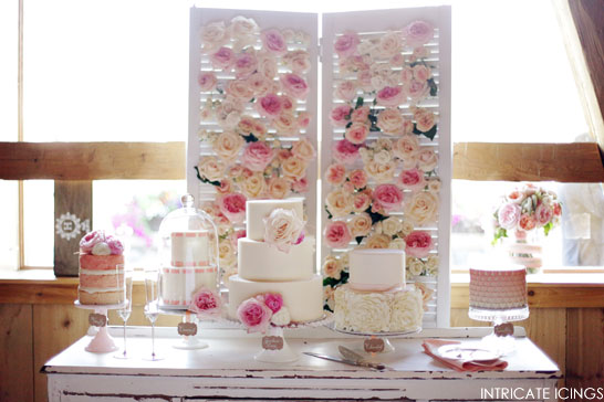 Rose Cake Display | by Intricate Icings | Pink Week on TheCakeBlog.com