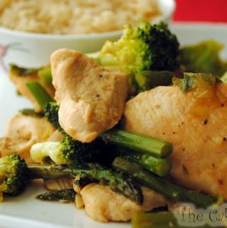 Chicken, Asparagus and Broccoli Stir-Fry