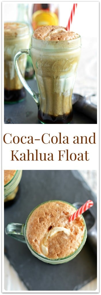Coca Cola and Kahlua Float for Pinterest
