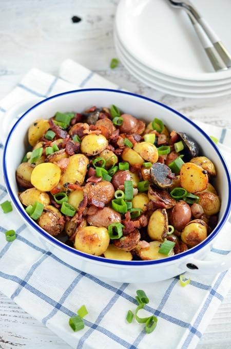 Cheesy Roasted Potatoes with Bacon
