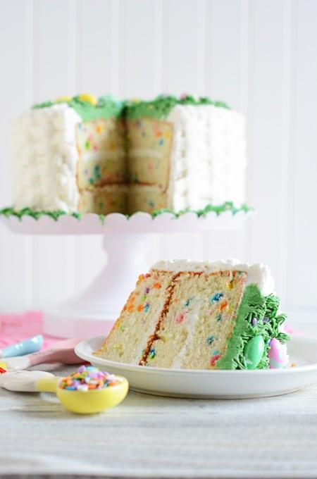 Easter Confetti Cake