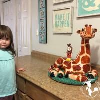 Making A Sculpted Giraffe Cake