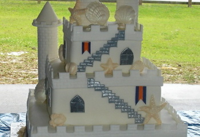 Sand Castle Wedding Cake The Cake Process By Brandi Chavez
