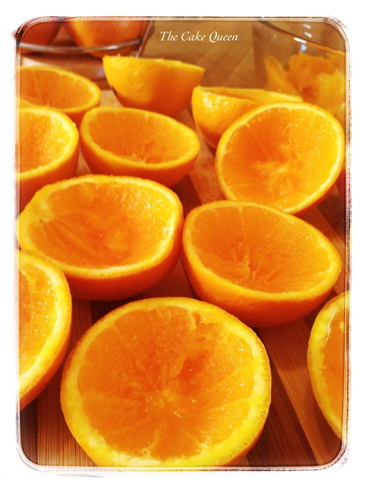 Naranjas sin la pulpa