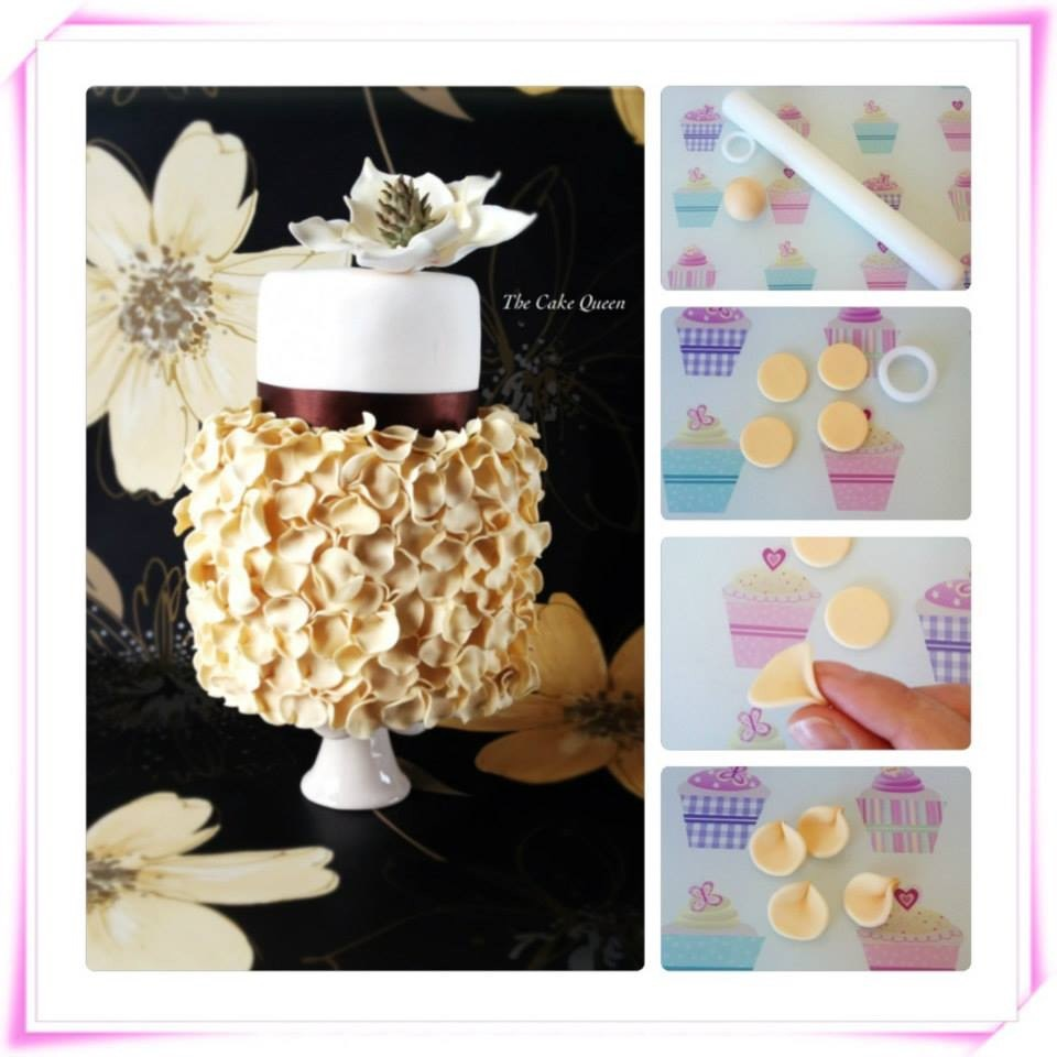 MI tarta de cumpleaños, collage de los pliegues
