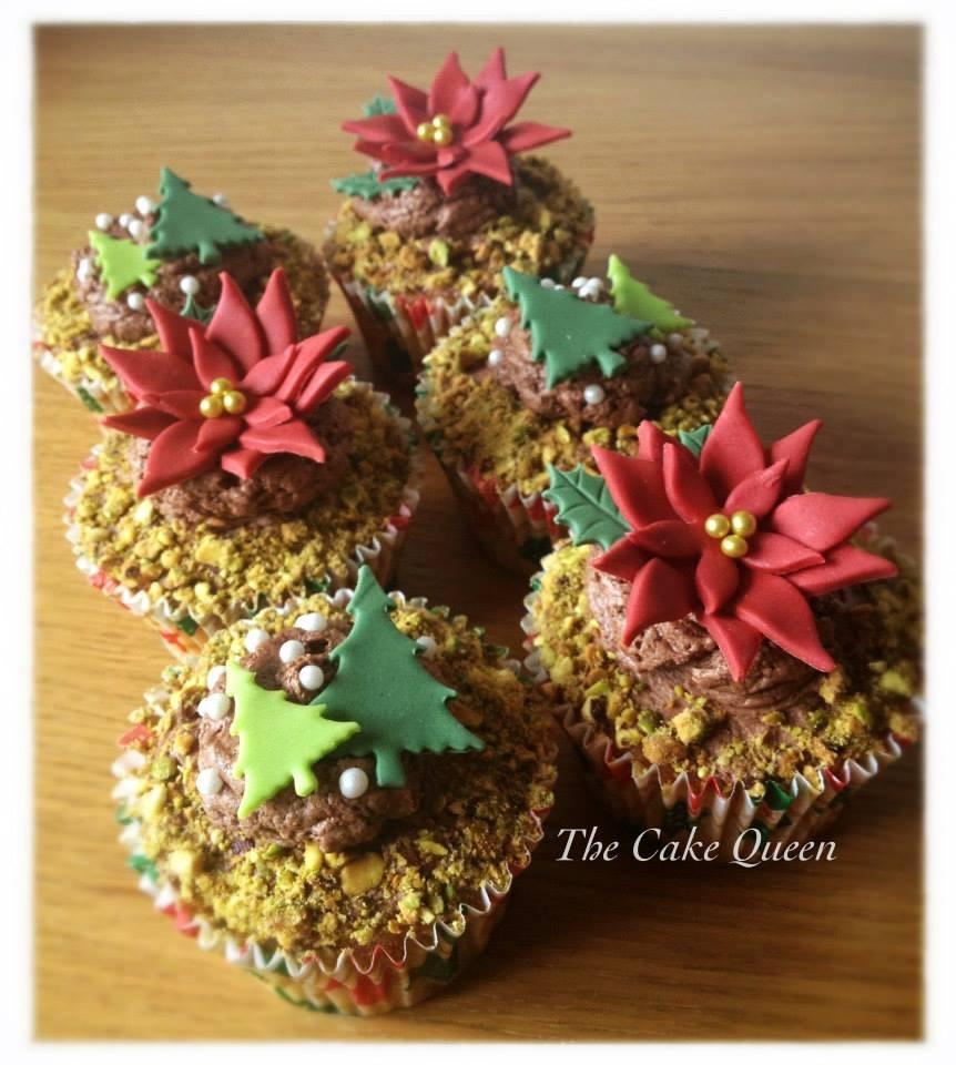 Cupcakes de cereza y pistachos