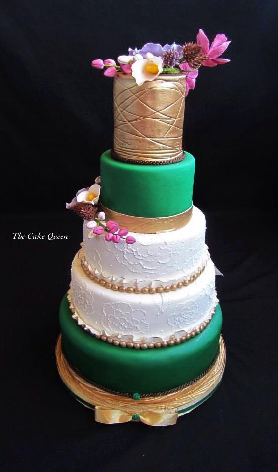 Mi tarta para Expotarta 2014, la parte de atrás de la tarta