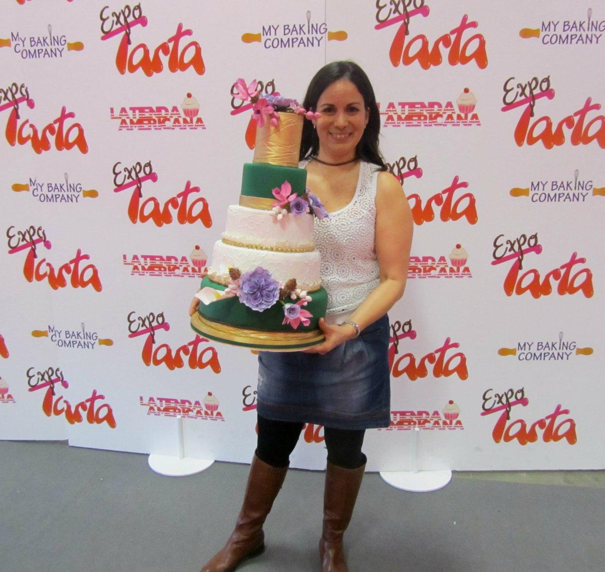 Yo y mi tarta en EXPOTARTA 2014