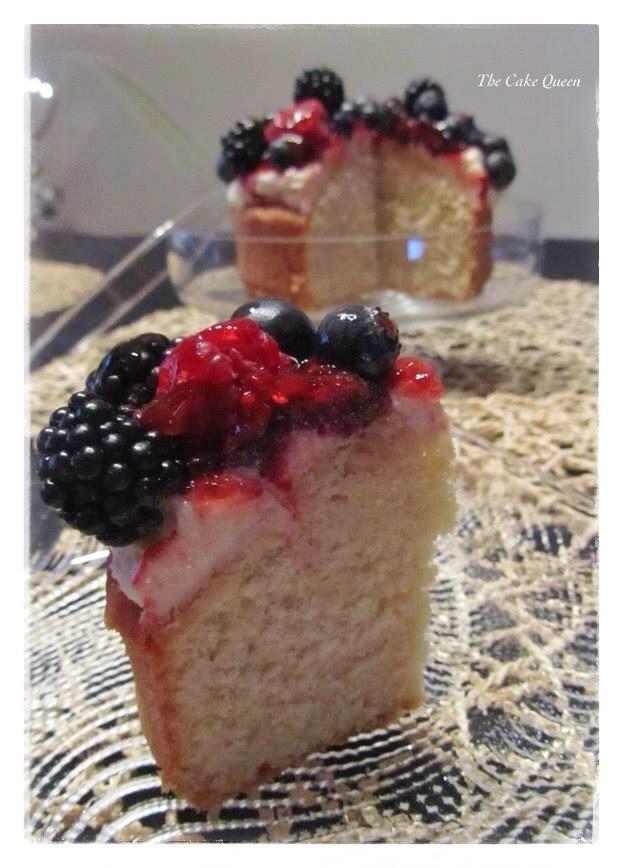 Victoria Sponge con frutas, la textura es maravillosa, un gran bizcocho