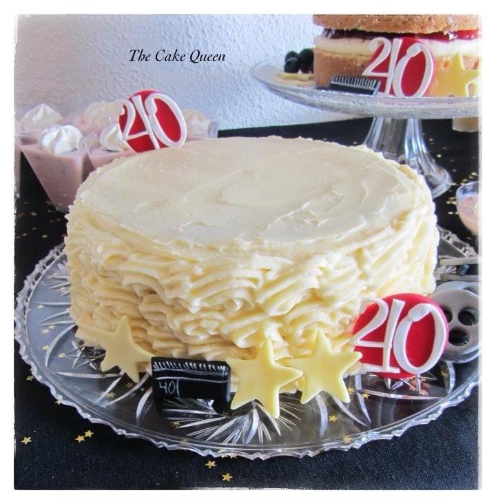 Tarta Red Velvet con crema de queso sabor a vainilla