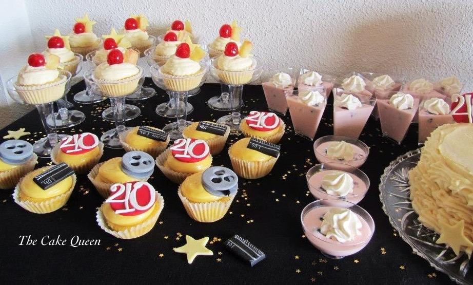 Cupcakes de maracuyá y mango, cupcakes de piña colada, cassata portuguesa