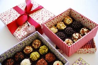 Brigadeiros en cajas, un lindo detalle para dar de regalo (Imagen tomada de la red)