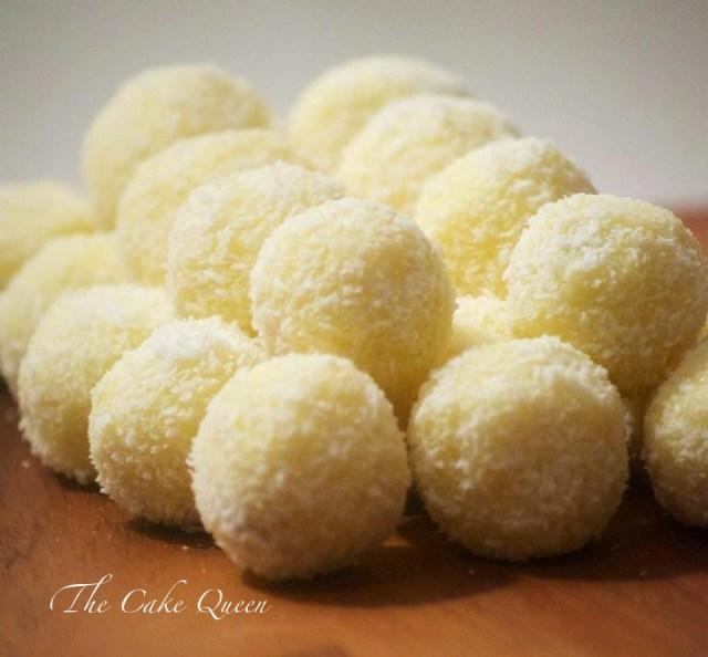 Bombones de coco, perfectos para merendar