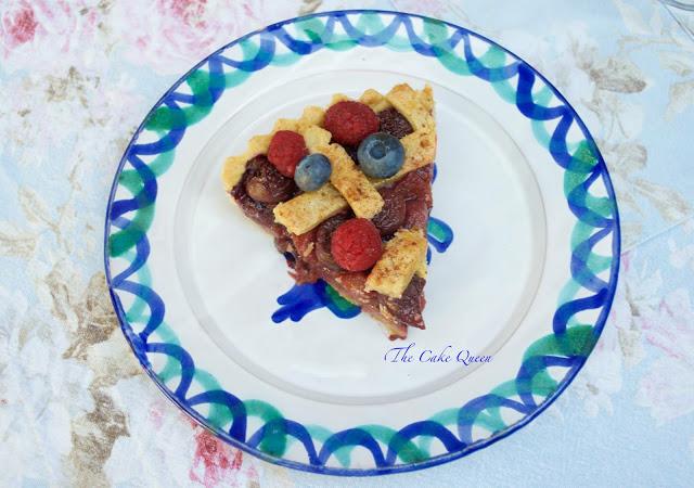 Pie Veraniego de Sangría, las frutas le aportan un sabor maravilloso