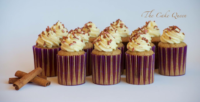 Cupcakes de jengibre y canela, unos cupcakes muy especiales porque hoy es mi cumpleaños