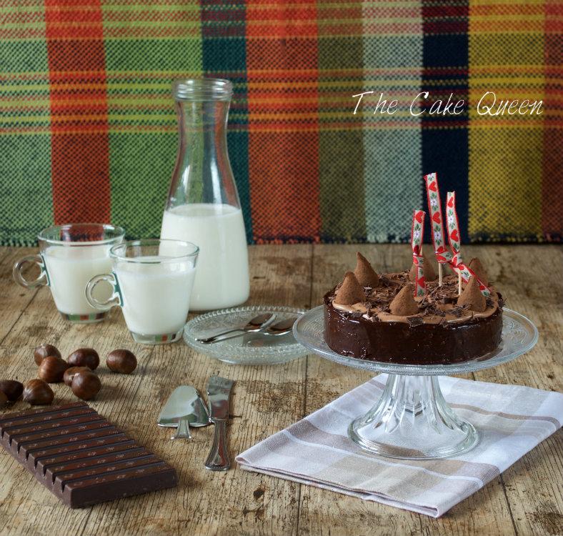Tarta de castañas y chocolate de leche, una auténtica delicia y muy sencilla de elaborar