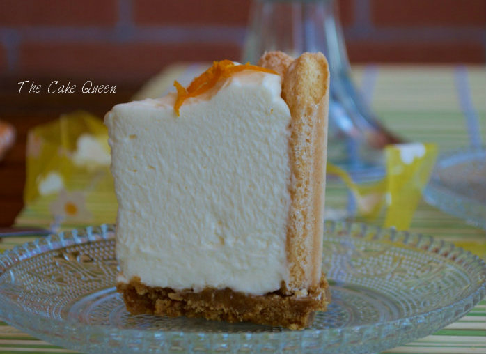 tarta fría cítrica de pomelos y soletillas