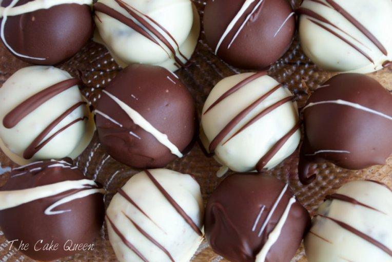 trufas de sobao pasiegos y ganache de chocolate