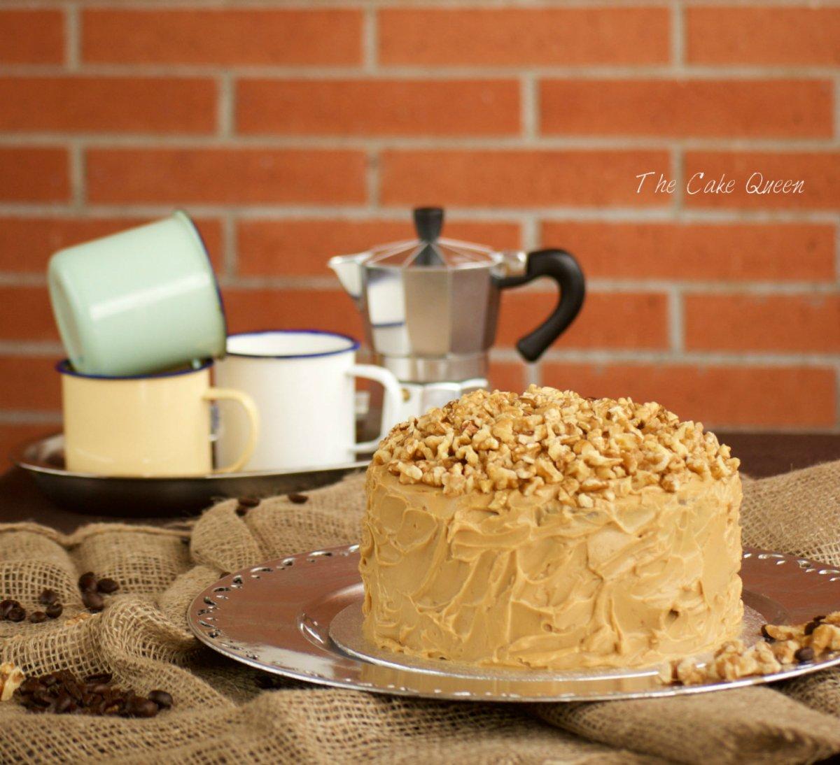 Tarta de café y nueces