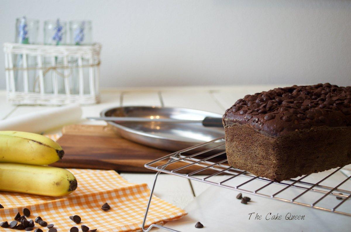 Pan de chocolate y plátano
