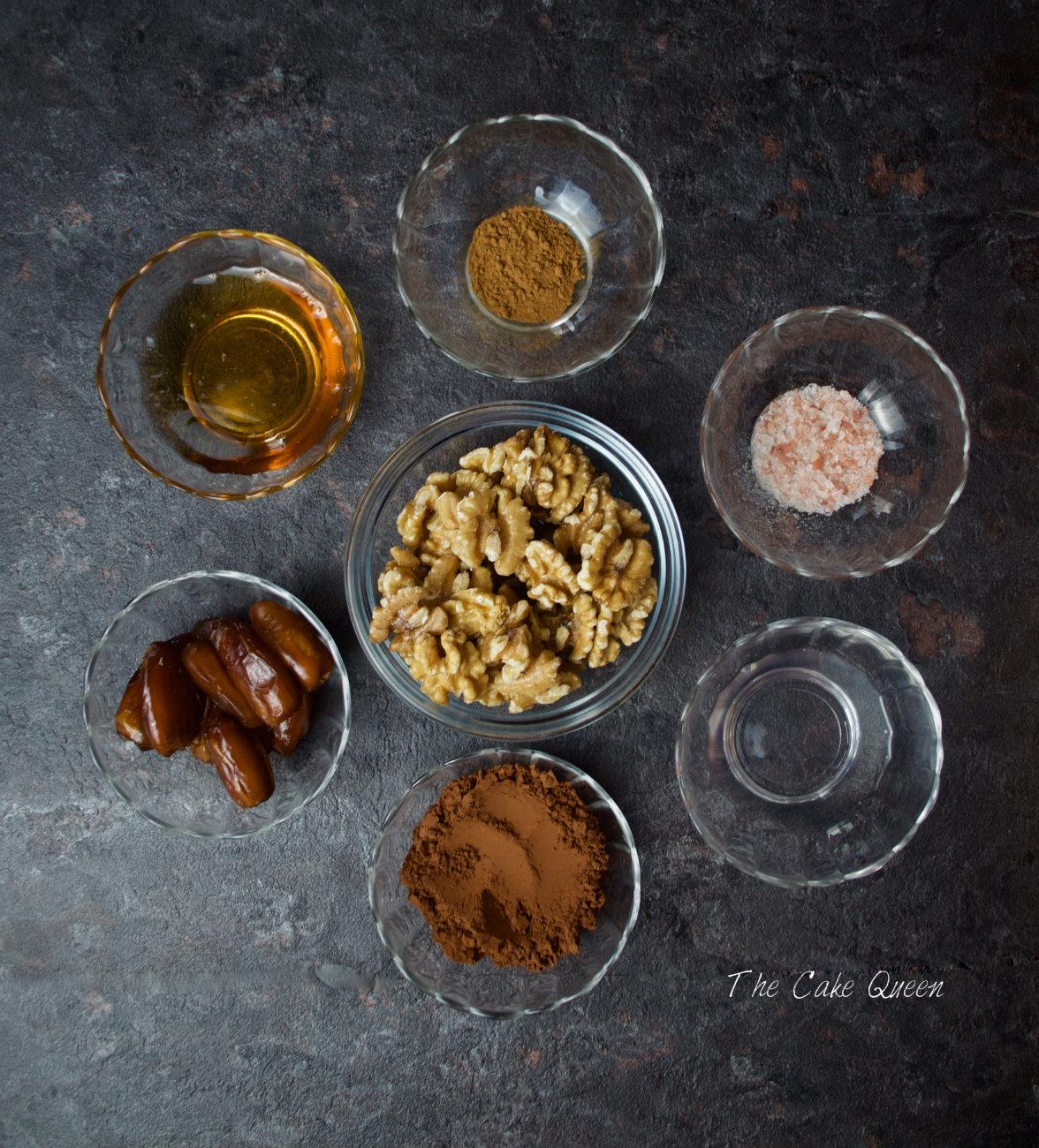 Trufas de dátiles, nueces con sal marina veganas y sin gluten
