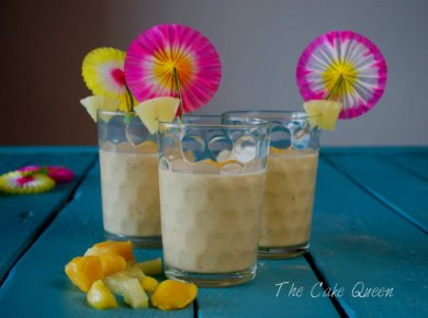 Smoothie de frutas tropicales