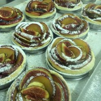 Gluten free peach and redcurrant tarts, summer 2016