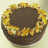 Xmas glutenfree brazil nut and fig cake