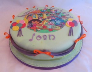 Dora the Explorer Fiesta Cake