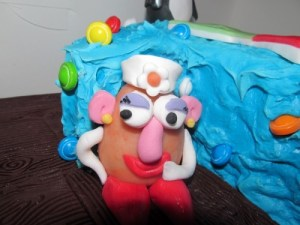 mrs potato head cake topper