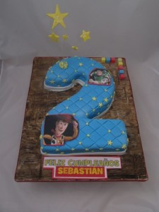 Number 2 Toy Story Cake