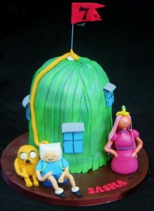 Adventure time treehouse birthday cake