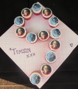 Number 9 photo cupcakes