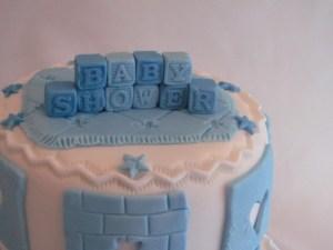 Alphabet blocks cake topper