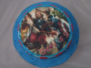 Avengers Image topped Cake
