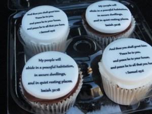 Bible Verse Cupcakes