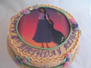 Black Rapunzel cake