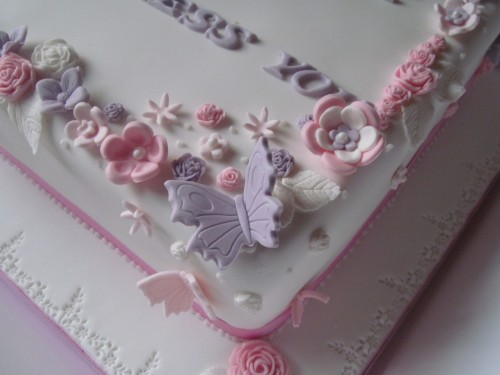 Butterflies and Flowers cake topper