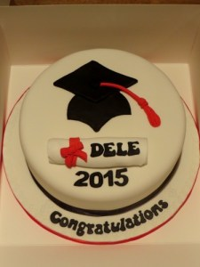 Cap and Scroll Graduation Cake