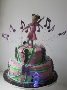 Disco Silhouette Kids Birthday Cake