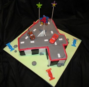 Number 4 Disney Cars cake