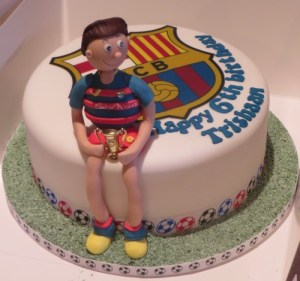 FC Barcelona birthday cake with player