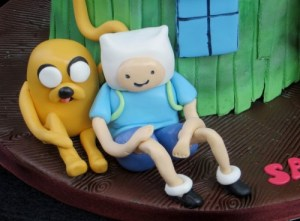 Finn and Jake Adventure time cake toppers